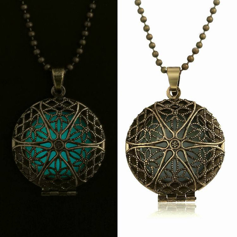 Antique bronze glow in the dark pendant necklace shop prana n282 aloadofball Gallery