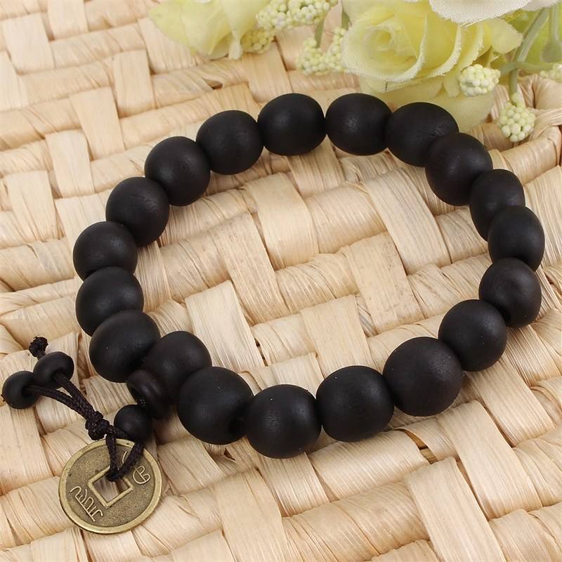 Mens Tibetan Wooden Prayer Beads Bracelet Uni Buddhist Jewelry Prana